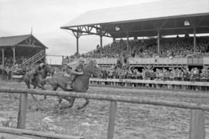 Cloverdale Rodeo Black and White Photo